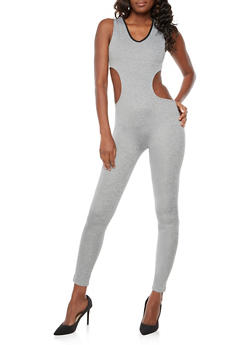 Hooded Open Back Jumpsuit - 3056072290004