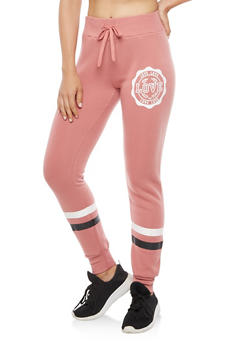 Love Graphic Print Sweatpants - 3056072290198