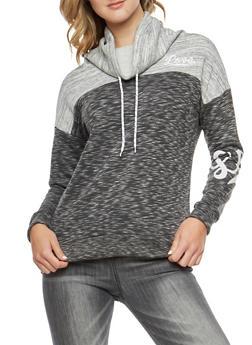 Love Graphic Fleece Cowl Neck Sweatshirt - 3056072290201