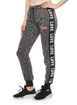 Marled Love Graphic Sweatpants - 3056072291087
