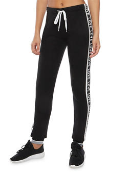 Graphic Joggers with Love Print - 3056072291711