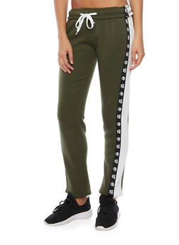 Graphic Sweatpants with Love Athletic Print - 3056072291850