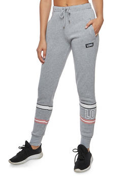Leg Graphic Sweatpants - 3056072292015