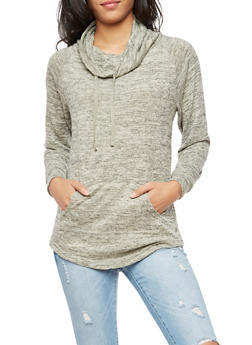 Cowl Neck Sweater - 3056072295166