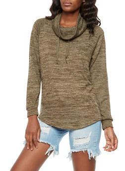 Cowl Neck Sweater - 3056072295166