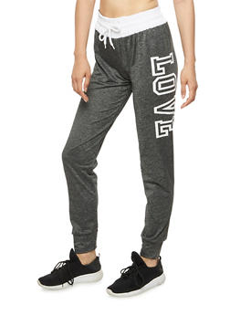 Love Graphic Jogger Pants - 3056072297090