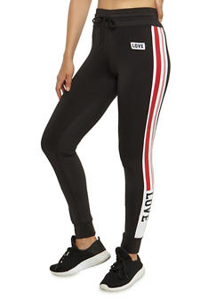 Love Side Striped Joggers - 3056072297600