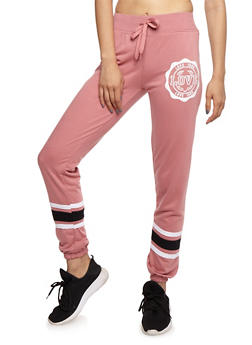 Love Graphic Print Joggers - 3056072298300