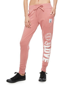 Love Patch Sweatpants - 3056072298400