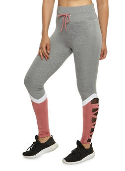 Caged Mesh Active Leggings - 3056072299500