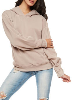 Solid Hooded Sweatshirt - 3056072299660