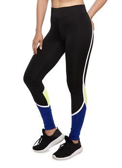 Color Block Active Leggings - 3058038340003