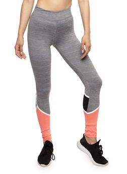 Color Block Active Leggings - 3058038340003