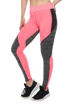 Athletic Color Block Leggings - 3058038341701