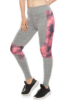 Floral Print Athletic Leggings - 3058038341901