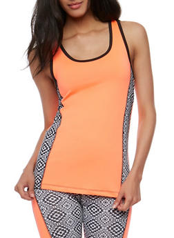 Color Block Activewear Tank Top - 3058038342003