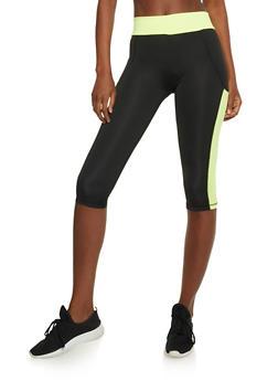 Color Block Athletic Capri Leggings - 3058038344002