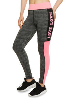 Love Graphic Activewear Leggings - 3058038347719