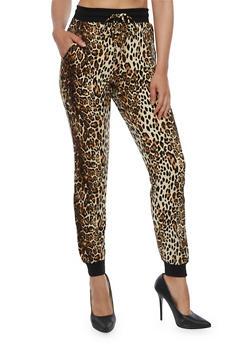 Leopard Print Joggers - 3061001448349