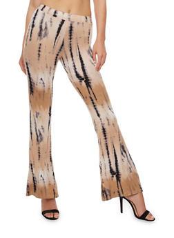 Flared Tie Die Pants - 3061020623642