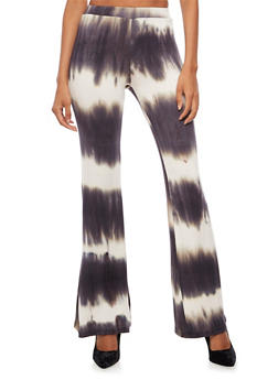 Tie Dye Flared Leggings - 3061020626317