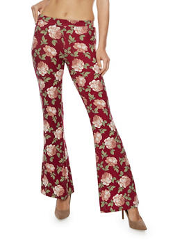 Printed Flared Pants - 3061020626411