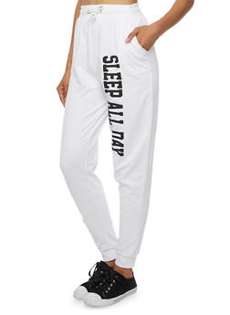 Joggers with Sleep All Day Graphic - 3061033877702