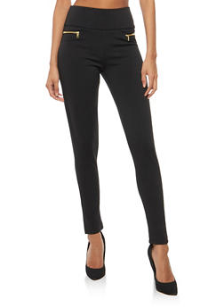 Zip Skinny Dress Pants - 3061038342603