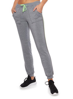 Joggers with Striped Trim - 3061051060439