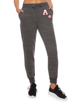 Fleece Joggers with Patches - 3061051069333