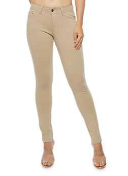 Solid Stretch Skinny Pants - 3061054265807