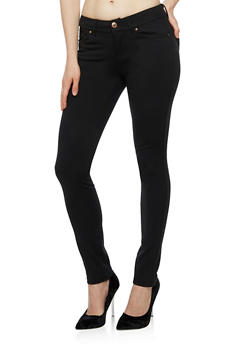 Solid Push Up Jeggings - 3061054269412