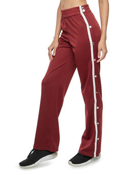 Track Pants with Varsity Stripe - 3061061632420