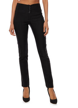 4 Button Skinny Pants - 3061062416570