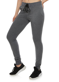 Soft Knit Lace Up Joggers - 3061062700879