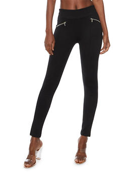 Moto Pants with Zippers - 3061062701565