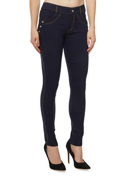 Jeggings with Studs and Pockets - 3061072710276