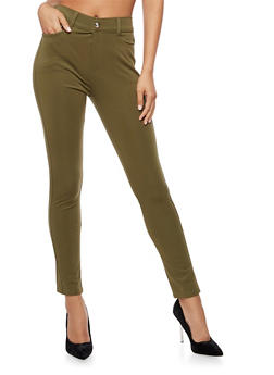Solid Skinny Pants - 3061072717397
