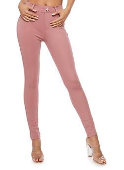Solid Skinny Pants - 3061072717397