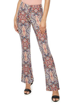 Printed Flared Pants - 3061074015766