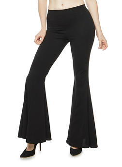 Pleated Bell Bottom Pants - 3061074015777