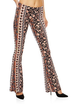 Printed Flared Pants - 3061074015787