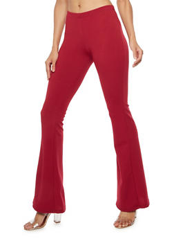 Solid Flared Pants - 3061074018775