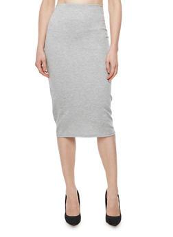 Ponte Midi Pencil Skirt - 3062020621395