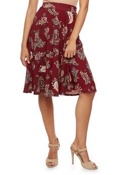 Paisley Skater Skirt - 3062020624042