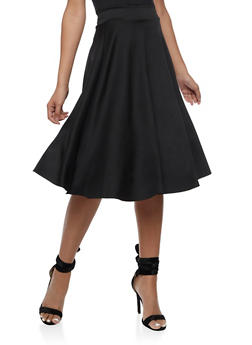 Solid Skater Skirt - 3062020624046