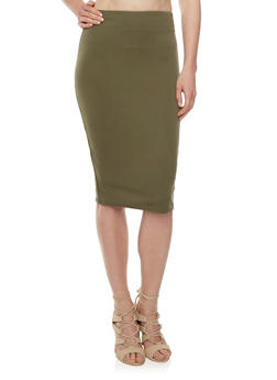 Bodycon Midi Skirt - 3062020624458