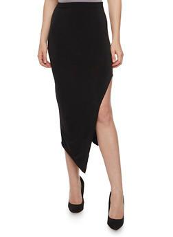 Solid Side Slit Pencil Skirt - 3062020626344