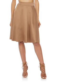 Flared Skirt in Stretch Knit - 3062020628445