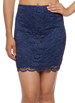 Lace Mini Skirt - 3062054265804